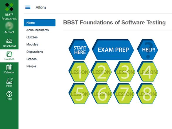 BBST online learning platform
