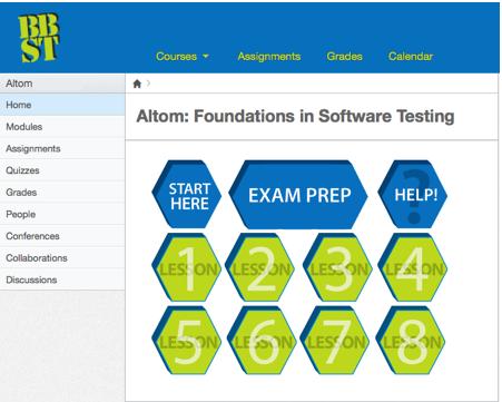 Canvas - BBST Foundations online learning platform